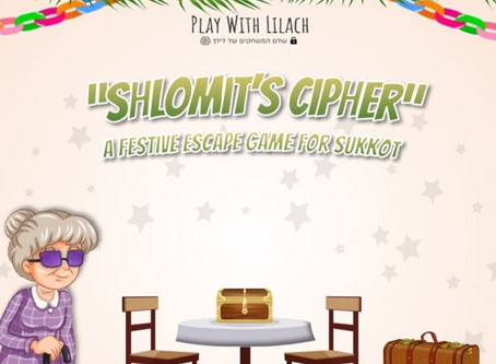 If You Can't Beat 'Em Escape 'Em: Shlomit's Cipher Escape Room