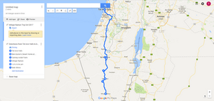 Mitzpe Ramon Trip Map