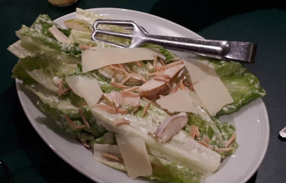 CEASAR SALAD WITH RED ANJOU PEARS AND ALMONDS by Chef Hagai Lerner