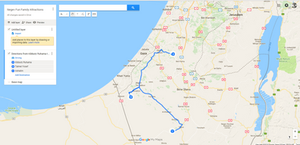 Negev Sun and Fun Trip Map
