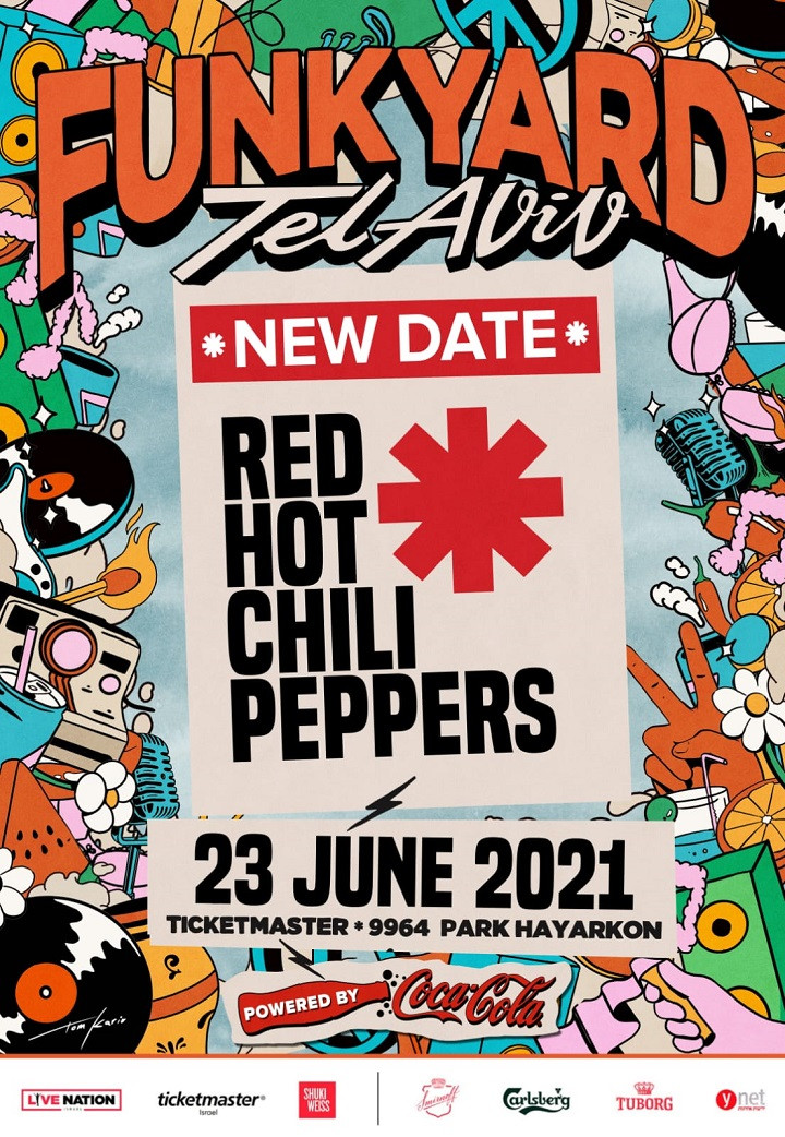 Red Hot Chili Peppers: Funkyard 2021 Tel-Aviv