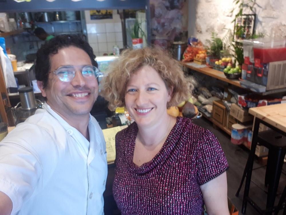 Chef Roy Herzog and I, 'Herzog' Vegan Restaurant Tel-Aviv