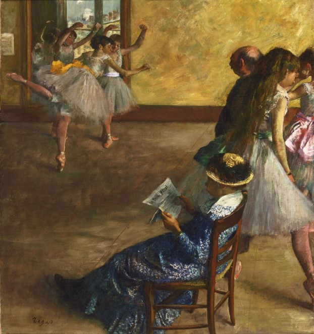 Edgar Degas, The Ballet Class, c. 1880 Modern Times Exhibition Tel-Aviv Museum of Art