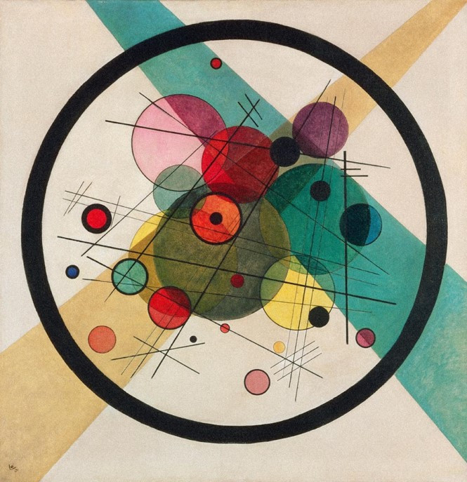 Vasily Kandinsky, Circles in a Circle, 1923, Modern Times Exhibition Tel-Aviv Museum of Art
