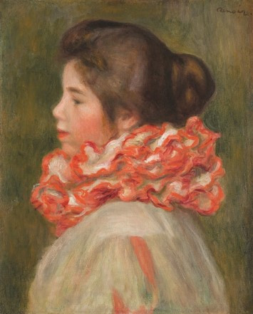 Pierre-Auguste Renoir (1841–1919) Girl in a Red Ruff, Modern Times Exhibition Tel-Aviv Museum of Art