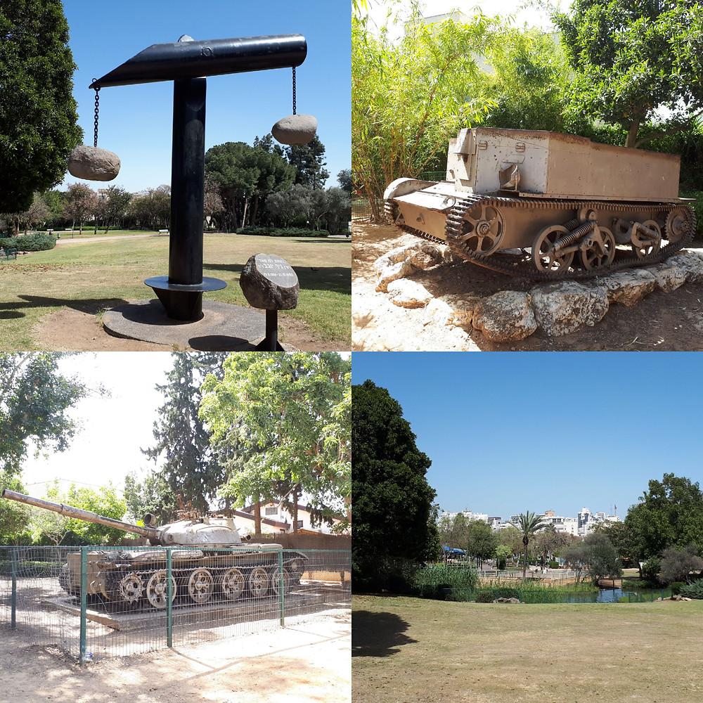 Memorial in Gan HaAtzmaut Independence Park Petach Tikva