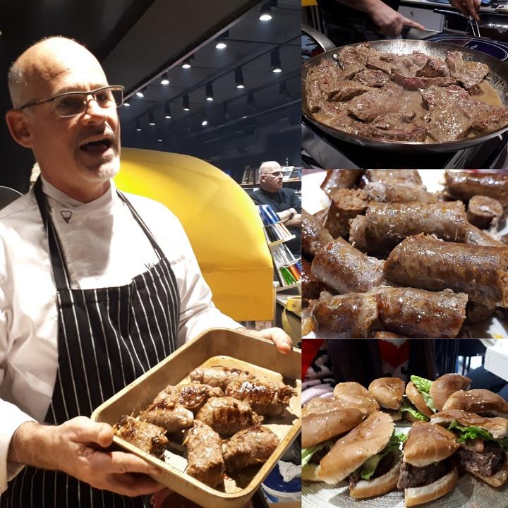 Chef Benny Ben Israel at Meat Point, Herzliya Pituach