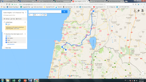 Golan Heights 1 of 2 Trip Map