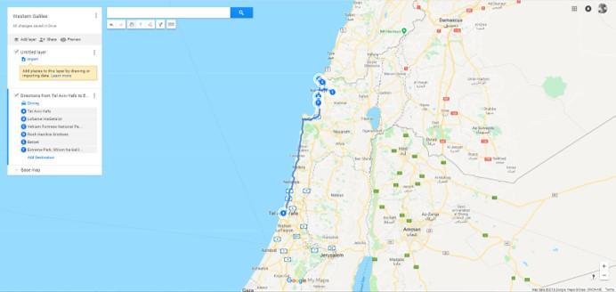 Western Galilee Trip Map