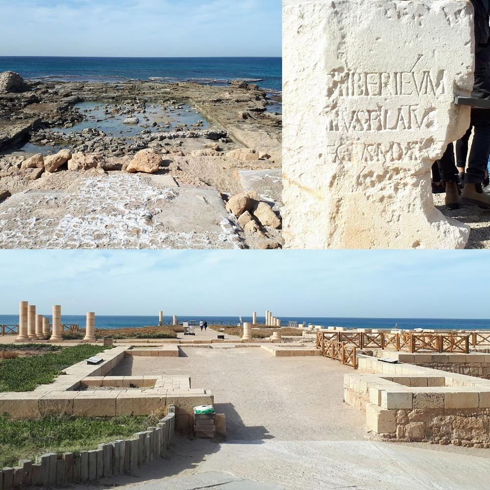 Cesarea Herod's Palace and Pontius Pilates Inscription