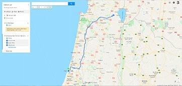 Kibbutz Lavi Trip Map