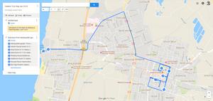 Hadera Trip Map