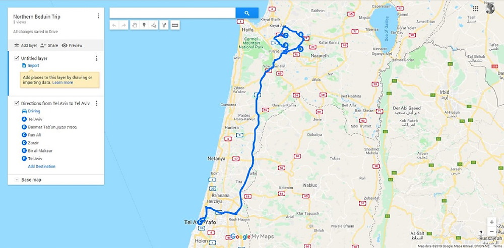 Beduin Hosting Up North, Israel-Best-Trips Map