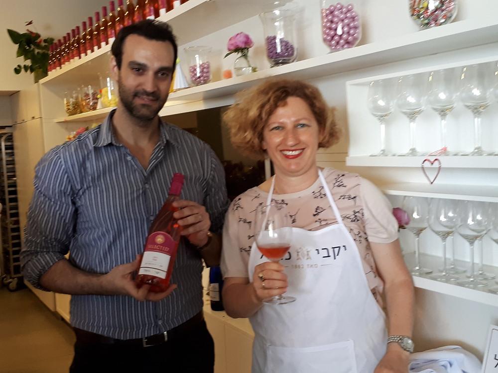 Ran Assa, Carmel Winery Marketing Manager and I