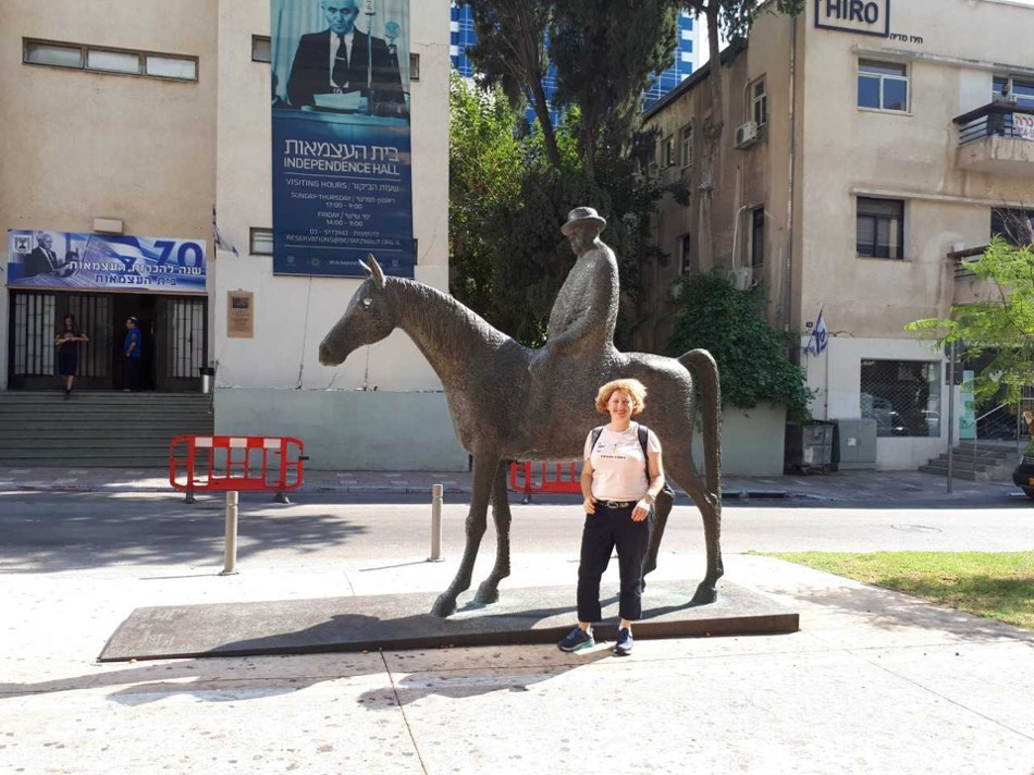Tel-Aviv Independence Trail Meir Dizengoff Statue