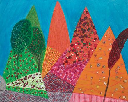 김윤순, 일일서정, 72.7x91cm, Acrylic on Canvas, 2018