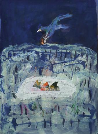 서홍석, 일기-수민의 꿈, 50x70cm, 아크릴, 혼합재료 on Fabriano, Pittura Paper