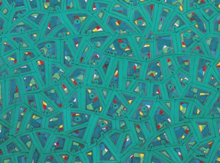 이태길, 축제-염원, 116.8x80.3cm