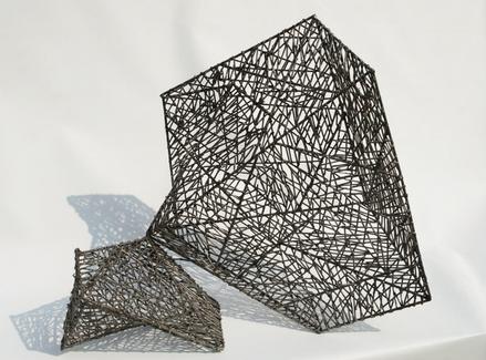 전준, 소리-존재의 의미, 68x34x65cm, 스테인리스스틸, 2009