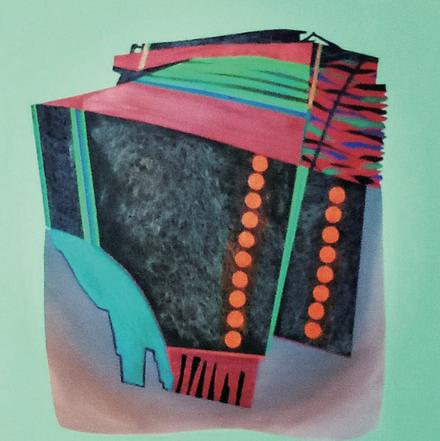VydhiaSagar, Untitled, Acrylic on canvas, 90X90cm, 2020
