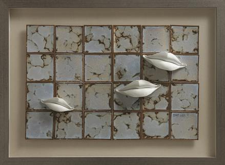 한근석, 말이 없는 입, 듣는 자의 지혜, 60x40cm, Ceramic, 2019