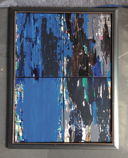 Kalicharan Gupta, ptg no 20180814, acrylic on canvas, 32.2x24.2 inches