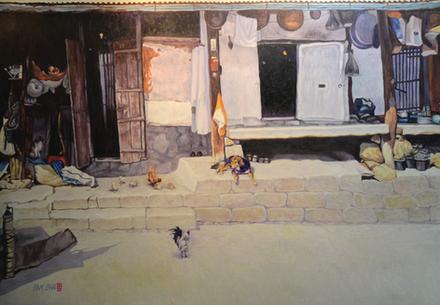 이남찬-뜰, 162.2x112cm, oil on canvas, 2019