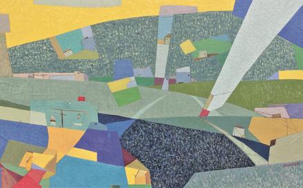 이도선, 야곱의 삶에서 배우기, 116.5x72cm, mixed media on canvas, 2018
