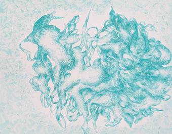 전성규, Hidden Passage20-Root1, 116.8x91cm, Acrylic on canvas, 2020