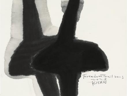 정명희, Freedom Trail 20-3, 50x40cm, paper+sumuk