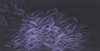 이순애, 거닐다, 44.5x87cm, 천에채색, 2020