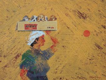 장완영, 장날, Oil on canvas, 65x50cm, 2019