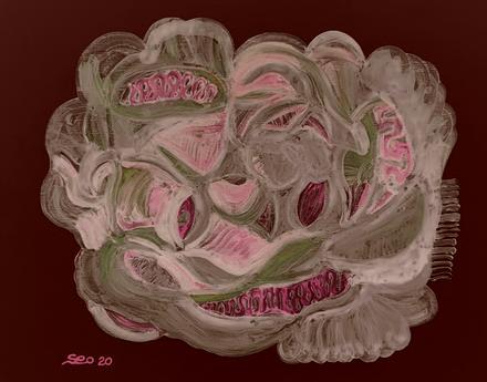 서길헌, 신성한 숨결20-2, 116.8x91cm, Acrylic on canvas, 2020