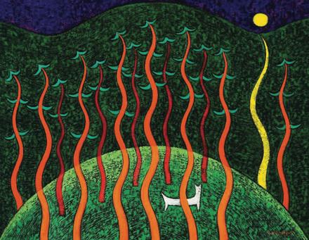 정미애, 춤추는 소나무, 50호, F, oil on canvas, 2020