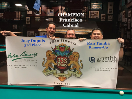 April 14, 2019: 9 Ball Straight Race Event At Snookers. Stop #11