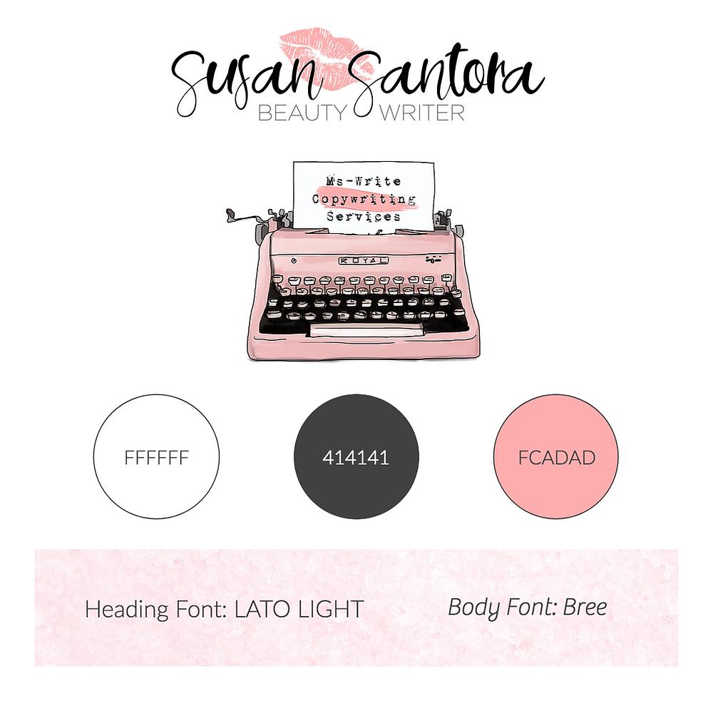 Susan Santora / Ms.Write - Mini Branding Board designed by AG Social Co