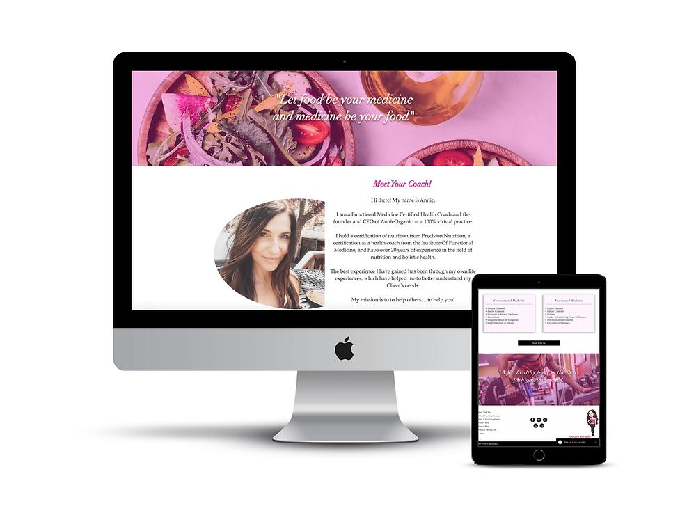 Annie Organic web design by AG Social Co