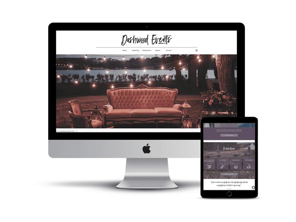 Dashwood Events Web Design by AG Social Co
