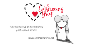 Embracing Grief - Facebook URL Share Graphic designed by AG Social Co