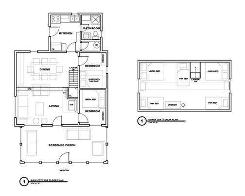 Fernglen Main Cottage Floorplan