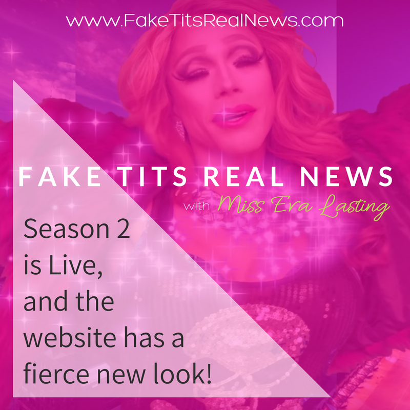 Fake Tits Real News - Social Media Post Graphic by AG Social Co
