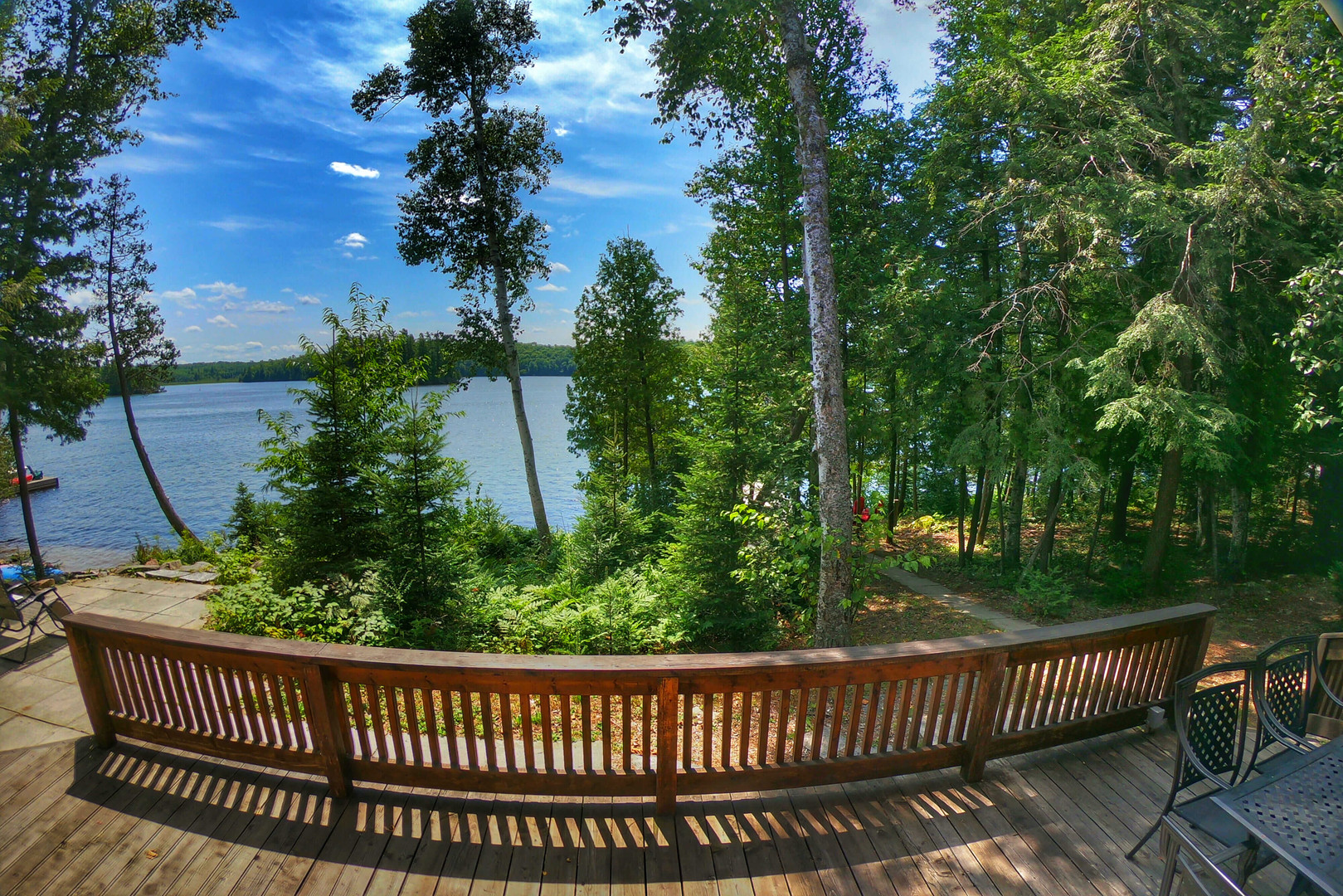 Relaxing on waterfront cottage rental