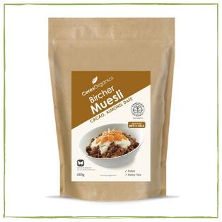 Organic Bircher Muesli Cacao, Almond, Date (650g)