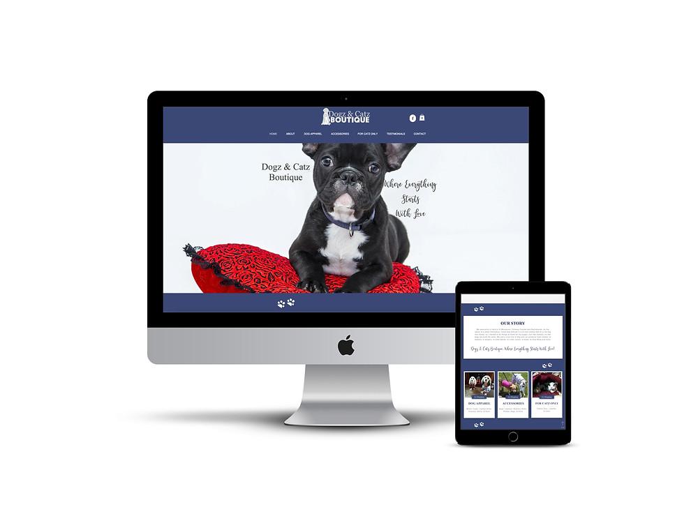 Dogz & Catz Boutique web design by AG Social Co