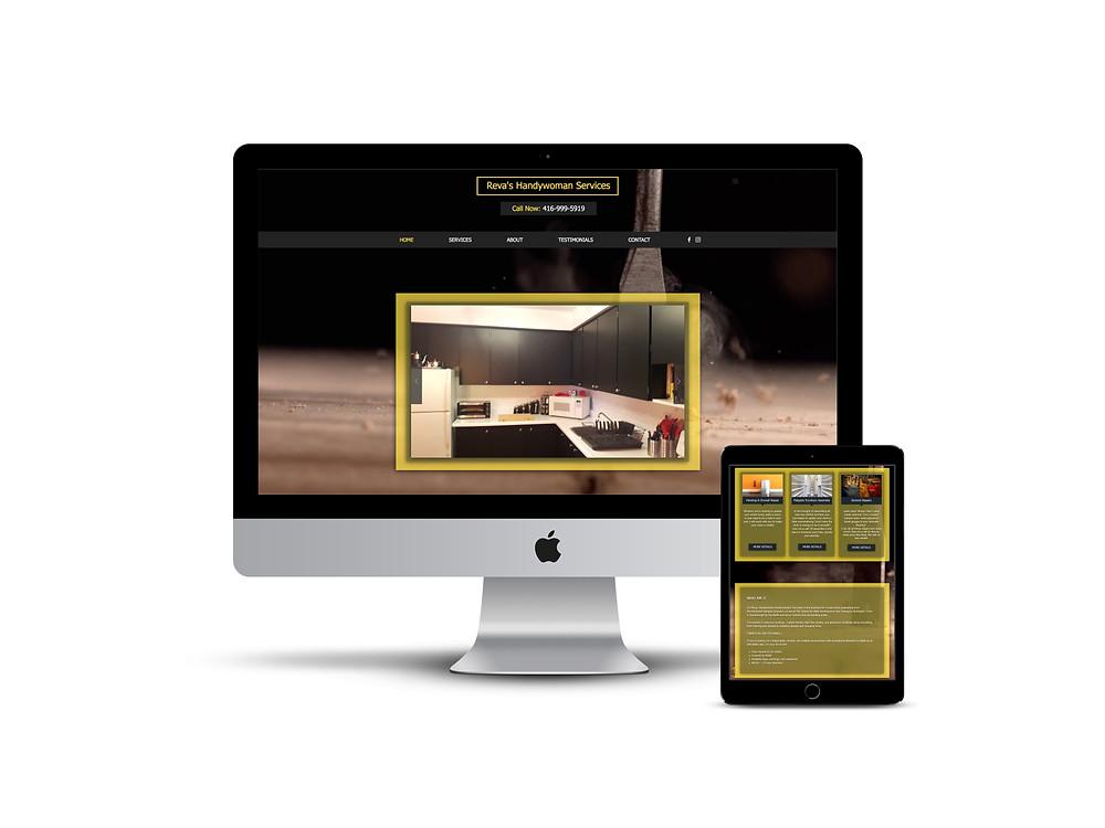Reva The Handywoman web design by AG Social Co