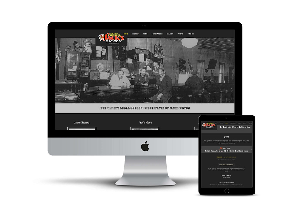 3 Fingered Jack's Saloon web design by AG Social Co