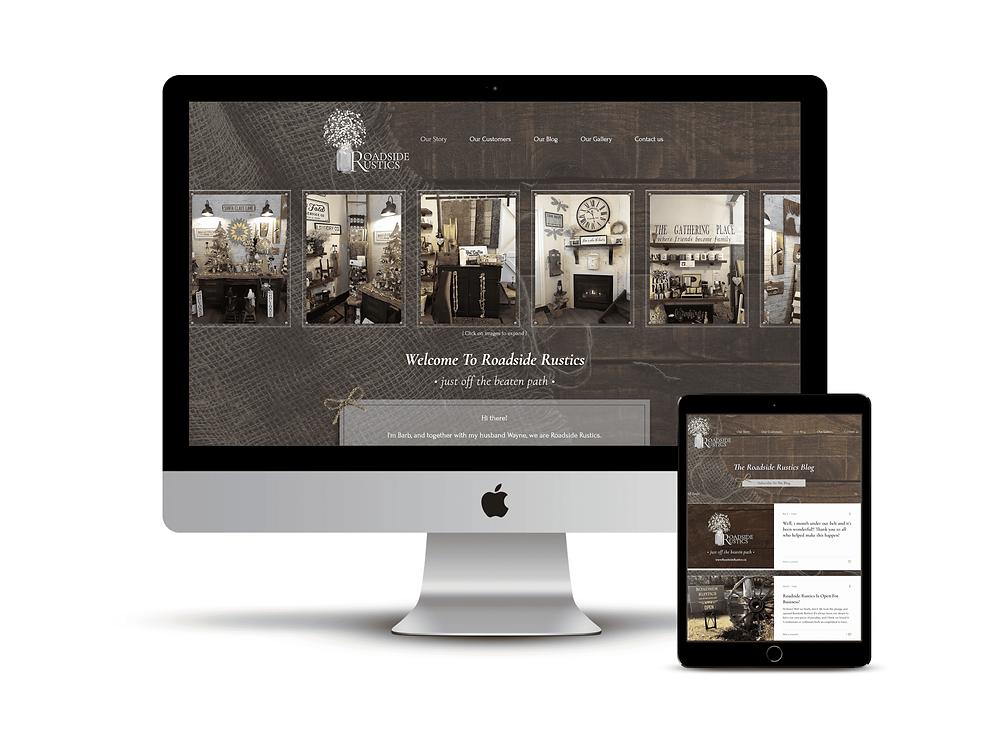 Roadside Rustics web design by AG Social Co