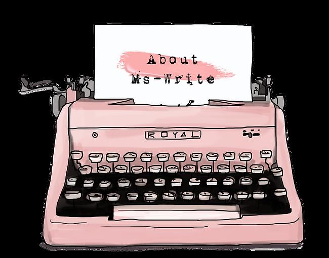 Pink Vintage Typewriter | About Ms-Write