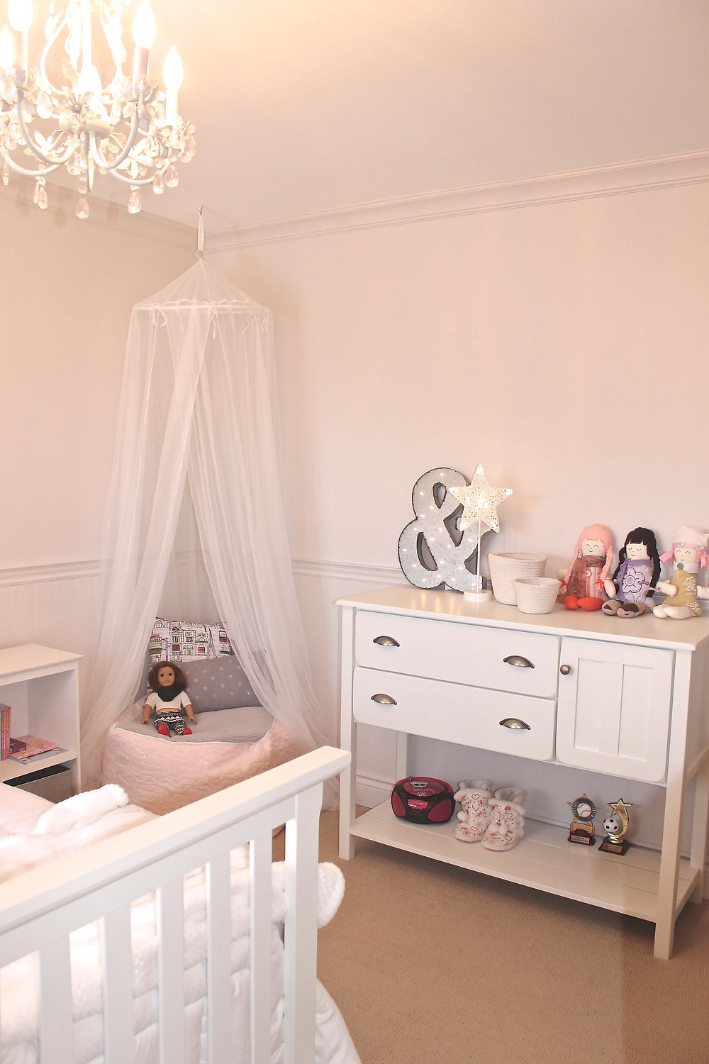 Dreamy vintage girls room by Georgia's Design
