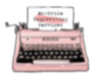 Pink Vintage Typewriter | Ms-Write Copywriting Services